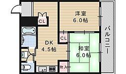 ルナハイム野田[203号室]の間取り
