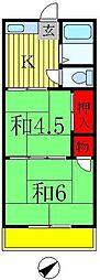 弘栄ハイツ[2階]の間取り