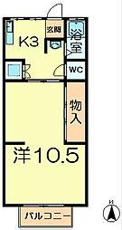 中山アパート7号館[2階]の間取り