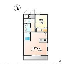 プランドール横濱[1階号室]の間取り