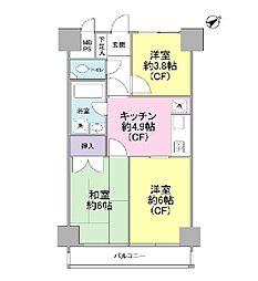 秀和田町レジデンス[5階]の間取り