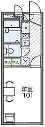 千葉県船橋市夏見6丁目の賃貸アパートの間取り