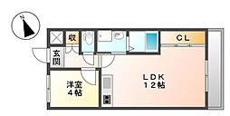 HIJIRIマンション[3階]の間取り