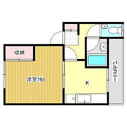 コーポ松村[1階]の間取り