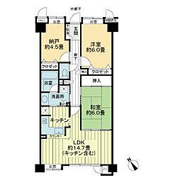 ライオンズマンション高砂中央[2階]の間取り