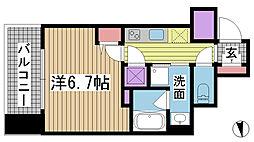アドバンス神戸アルティス[504号室]の間取り
