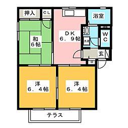 フォーレス中島 A棟[1階]の間取り