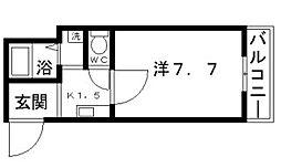 ラシーヌ山坂[4階]の間取り