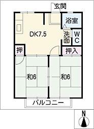 サンシティ・シャトーA棟[1階]の間取り