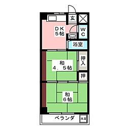 マツヤマンション[2階]の間取り