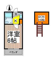 ピュア西川口[2階]の間取り