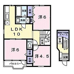 シャンドフールII[1階]の間取り