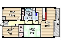 茨木メディカルビル[3階]の間取り