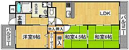 ナウボ1[7階]の間取り