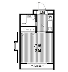 東京都板橋区向原2丁目の賃貸マンションの間取り