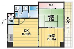 高井田青山ビル[2階]の間取り