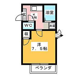 ハイツ岡本II[1階]の間取り
