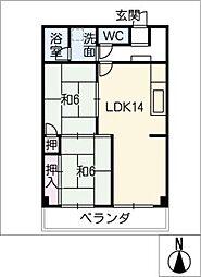 丸美タウンマンション松原807[8階]の間取り