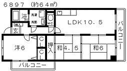 レジデンス佃[403号室号室]の間取り