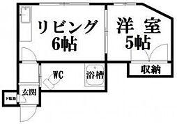 シンフォニックガーデン東札幌2[6号室]の間取り