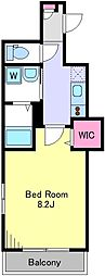 東急世田谷線 若林駅 徒歩3分の賃貸マンション 3階1Kの間取り