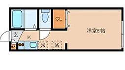 東京都大田区大森西1丁目の賃貸アパートの間取り