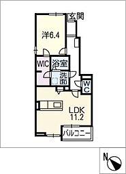 カルム五反田 B棟[1階]の間取り