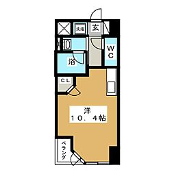 HF晩翠通レジデンス[3階]の間取り