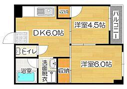 廣田マンション[4階]の間取り