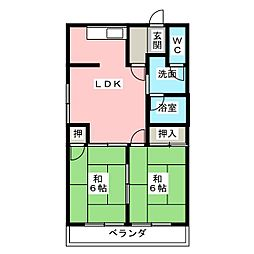 サンライトマンション147[3階]の間取り