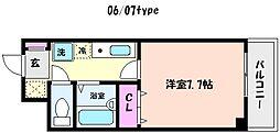 兵庫県神戸市東灘区森南町3丁目の賃貸マンションの間取り