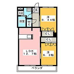 エクセレントMINI B[1階]の間取り