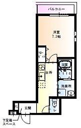 兵庫県尼崎市立花町3丁目の賃貸アパートの間取り