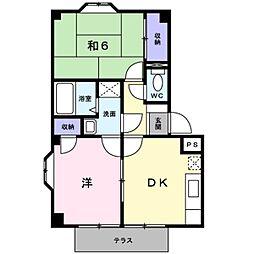 コ−ポ渡辺[1階]の間取り