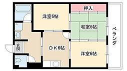 第2藤島ビル[302号室]の間取り