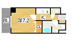 スペイサイドK 7階1Kの間取り