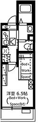 JR山手線 目黒駅 徒歩5分の賃貸マンション 1階1Kの間取り