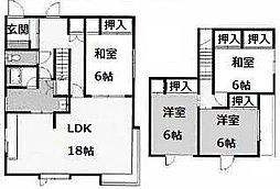 [一戸建] 北海道札幌市南区南沢六条4丁目 の賃貸【/】の間取り