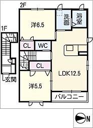 シャンテソラーレ A棟[2階]の間取り