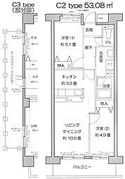 フロール山田町第3[208号室]の間取り