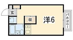 ノーブル寺家[205号室]の間取り