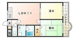 ふぉれすと守口[1階]の間取り
