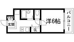 兵庫県西宮市上ケ原一番町の賃貸マンションの間取り