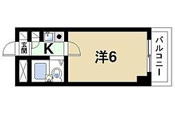 シティパレス東生駒P−3−C[3階]の間取り