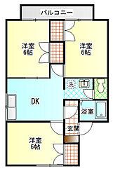ガーデンプレイス雨宮B[2階]の間取り
