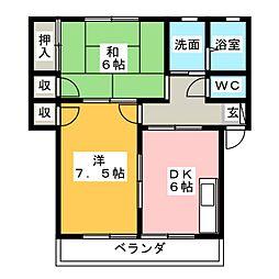 メゾンワルツ[1階]の間取り
