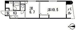 パステロ アロッジオ45東蟹屋[2階]の間取り