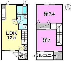 [テラスハウス] 愛媛県松山市久保田町 の賃貸【/】の間取り