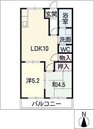 エル浅井[1階]の間取り