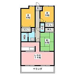 グランフォルム茅参番館[3階]の間取り